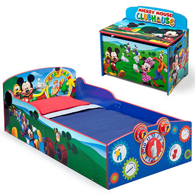 delta children mickey mouse 2 piece deluxe toddler bedroom set