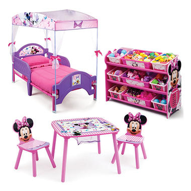 Delta Children Minnie Mouse 3-Piece Toddler Canopy Bedroom Set ...