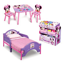 Best Seller Delta Children Minnie Mouse 3 Piece Toddler Bedroom Set