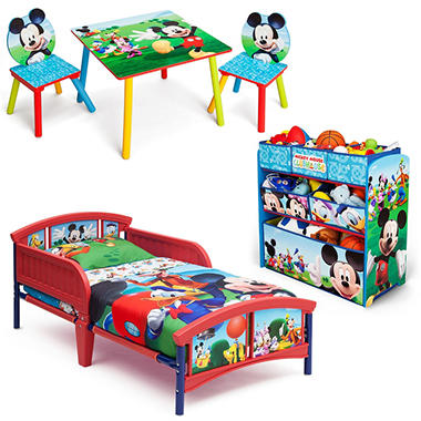 Delta Children Mickey Mouse 3 Piece Toddler Bedroom Set Sam S Club