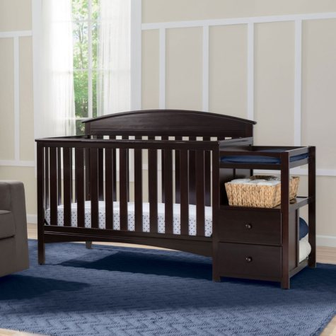 Delta Children Abby Convertible Crib 'N' Changer (Choose Your Color)