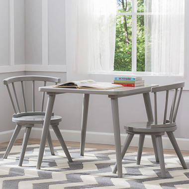 Delta Children Windsor Table and Chairs, 3-Piece Set (Assorted ...
