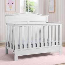 Serta Barrett 4-in-1 Convertible Crib, Bianca