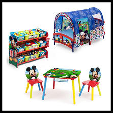 Delta Children Mickey Mouse 3-Piece Toddler Tent Bedroom Set
