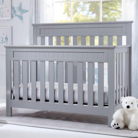 Delta Children Chalet 4-in-1 Convertible Crib, Gray