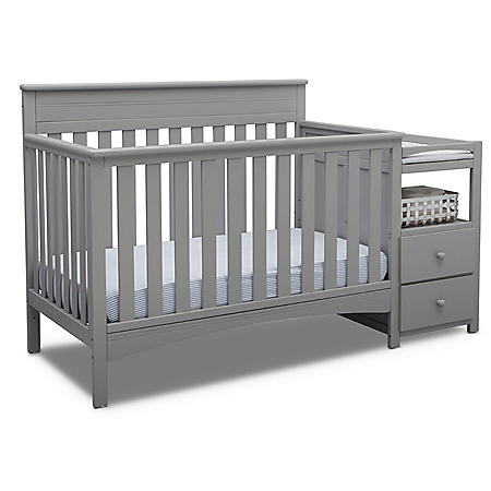 Delta Children Presley Convertible Crib and Changer (Choose Your Color)