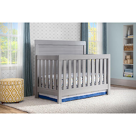 Simmons Kids Rowen 4-Piece Baby Furniture Set, Gray