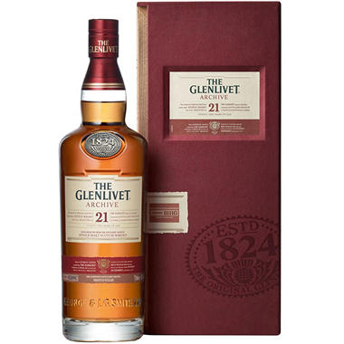 The Glenlivet Archive 21 Year Old Single Malt Scotch Whisky (750 ml)