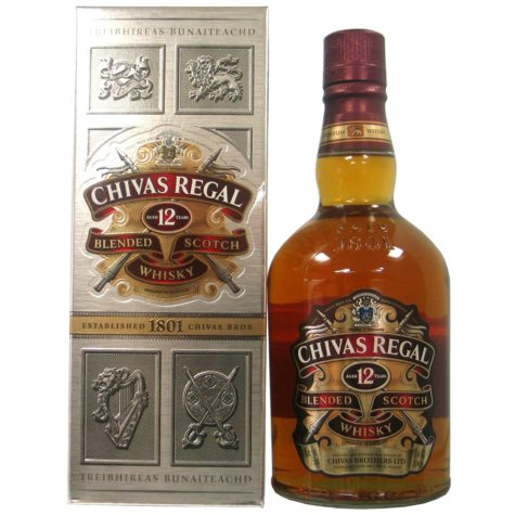 Chivas Regal 12-Year-Old Blended Scotch Whisky (750 ml)
