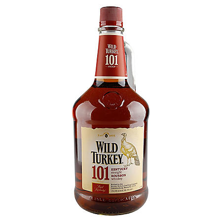 Wild Turkey 101 Proof Kentucky Bourbon Whiskey (1.75 L)