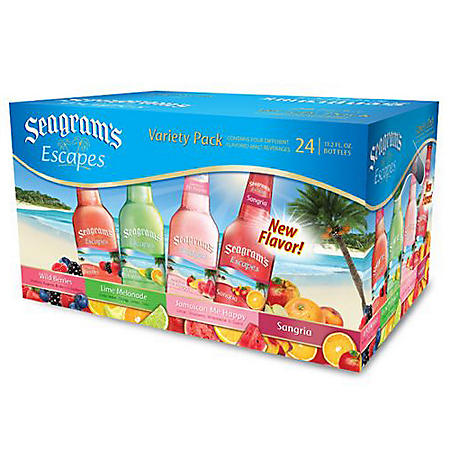 Seagram's Escapes, Variety Pack (11.2 oz bottles, 24 pk.)