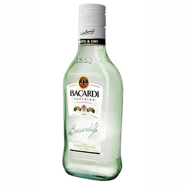 Bacardi Blanco 375ML - 24 ct.