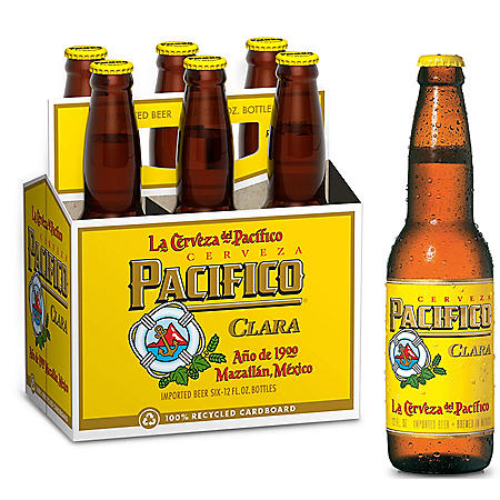 Pacifico Clara Mexican Import Lager Beer (12 fl. oz. bottle, 6 pk.)