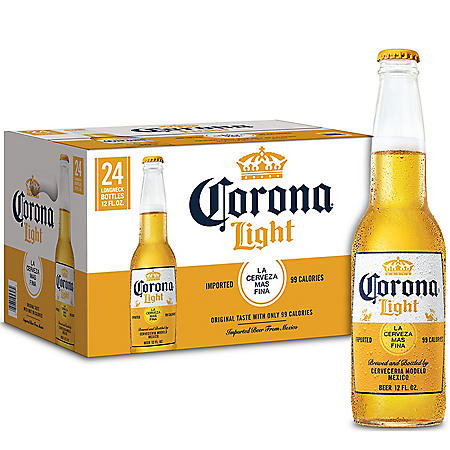 Corona Light Lager Beer (12 fl. oz.bottle, 24 pk.)