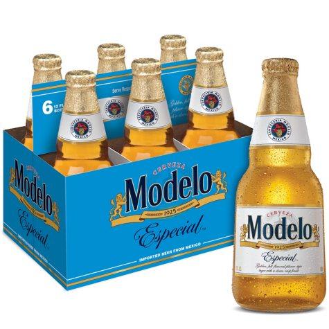 Modelo Especial Beer (12 fl. oz. bottle, 6 pk.)