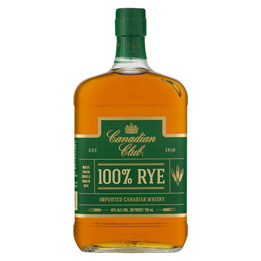 Canadian Club 100% Rye Whisky (750 ml)
