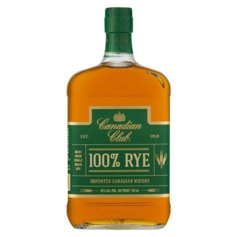 Canadian Club 100% Rye Whisky (750 ml)