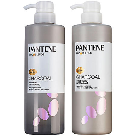 Pantene Pro-V Blends Charcoal Purifying Root Wash Shampoo and Soothing Cream Rinse Conditioner (17.9 fl. oz., 2pk.)