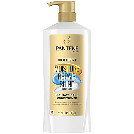 Pantene Pro-V Ultimate Care Moisture + Repair + Shine Conditioner for Damaged Hair and Split Ends (38.2 fl. oz.)