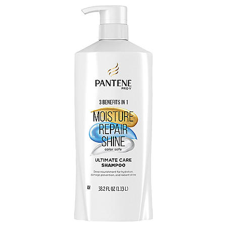 Pantene Pro-V Ultimate Care Moisture + Repair + Shine Shampoo for Damaged Hair and Split Ends (38.2 fl. oz .)