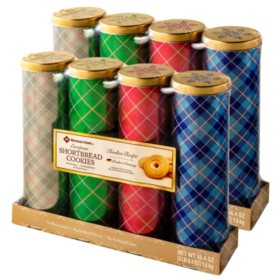 Member's Mark European Shortbread Cookies Tins by Stockmeyer (4 tins per pk., 2 pk.)