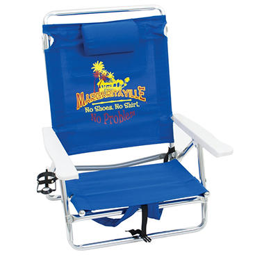 Margaritaville Classic Lay Flat Backpack Beach Chair
