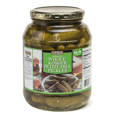 Daily Chef Fresh Pack Whole Kosher Petite Dill Pickes (46 oz.)