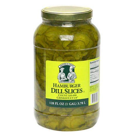 Bakers & Chefs Hamburger Dill Slices - 128 oz.