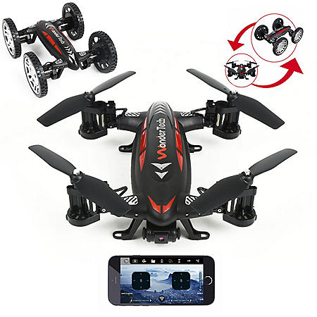WonderTech Skywheeler App Control Drone and RC Car Combo