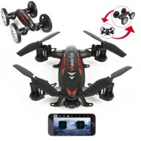WonderTech Skywheeler App Control Drone and RC Car Combo
