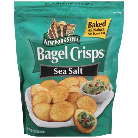 New York Style Sea Salt Bagel Crisps - 22 oz.