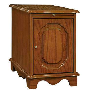 Nostalgic Oak Magazine Cabinet Table