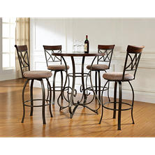 Hamilton Pub Table & Swivel Bar Stools 5-Piece Set