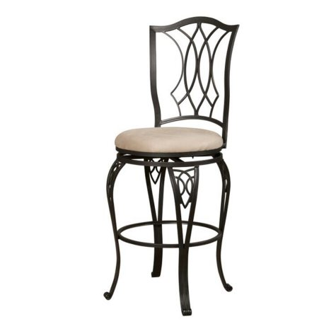 Big & Tall Diamond Scroll-Back Bar Stool (Assorted Sizes)