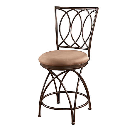 Big & Tall Metal Crossed Legs Bar Stool (Assorted Sizes)