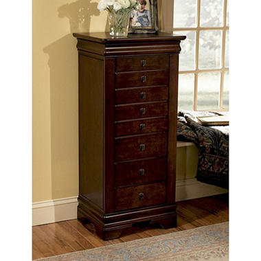 Beau Louis Philippe Jewelry Armoire, Marquis Cherry