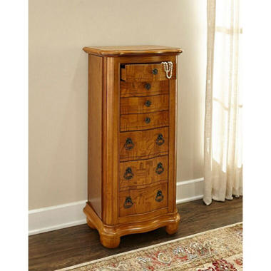 Powell Porter Valley Jewelry Armoire - Oak