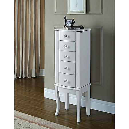 Jewelry Armoire, White