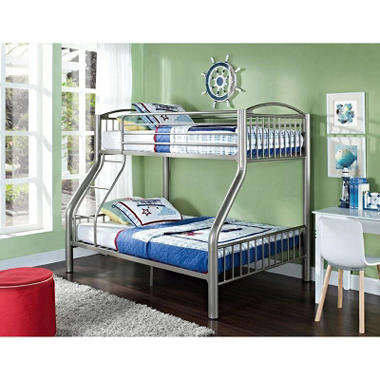 Pewter Twin over Full Bunk Bed