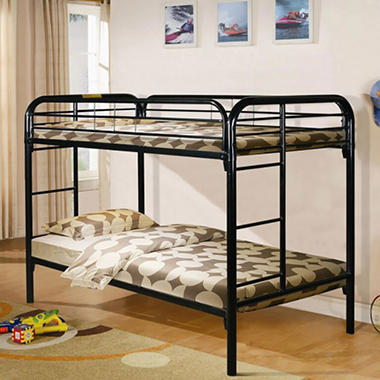 Black Twin Over Twin Bunk Bed Sam S Club
