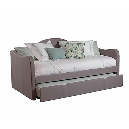 Upholstered Day Bed with Trundle