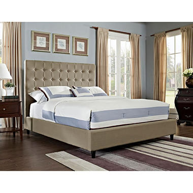 Soft Roll Upholstered Bed - Tan