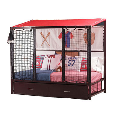 Home Run Dugout Twin Bed With Trundle