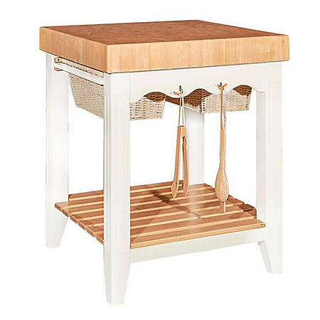 Brunton Kitchen Island With Butcher Block : Kitchen Island Butcher Block, White - Sam's Club
