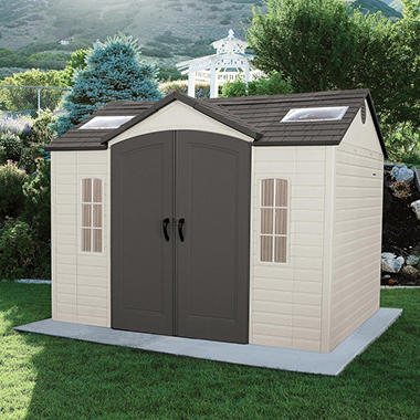 Lifetime 10u0027 × 8u0027 Outdoor Storage Shed : sams storage sheds  - Aquiesqueretaro.Com