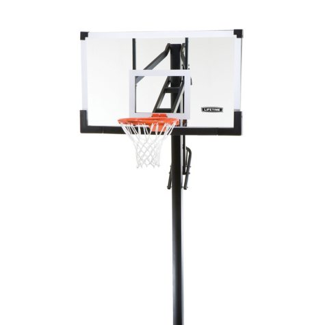 "Lifetime 54"" In-Ground Tempered Glass, Basketball System"