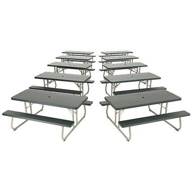 lifetime 6u0027 folding picnic table putty 10 pack