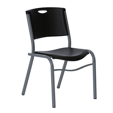 Lifetime Stacking Chair, Black, Select Quantity
