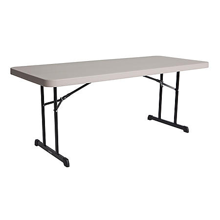Lifetime 6' Professional Grade Folding Table, 4 Pack, Putty