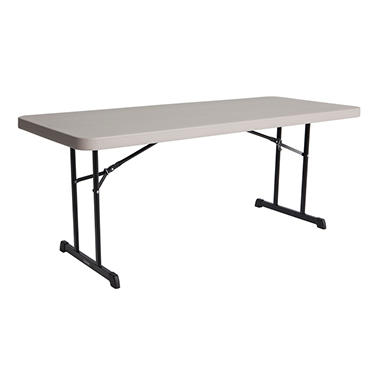 Lifetime 6' Professional Grade Folding Table, 18 Pack, Putty